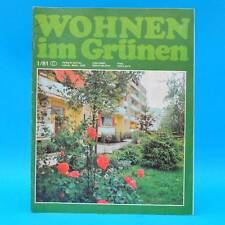 DDR Wohnen im Grünen 1/1981 Verlag für die Frau H Kromlau Leipzig Pflanzschalen