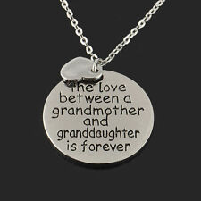 Family Necklace Pendant jewelry Gift The Love Between Grandma and Granddaughter