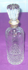 GORGEOUS VINTAGE 1970s SPANISH SILVER-MOUNTED CUT GLASS CRYSTAL STYLISH DECANTER