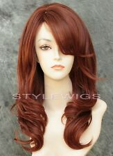 Auburn/Red Mix Long HEAT OK Layered Wavy Synthetic Wig Purity SAPU 33/130