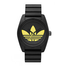 Adidas Mens ADH2879 Originals Santiago Black Dial Silicone Strap Quartz Watch
