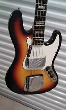 Global ST85BS Bass Guitar 1970's Vintage Jazz Electric Bass Lawsuit Era