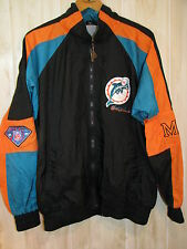 Vintage Pro Player Miami Dolphins Nylon Zip Front Jacket Waterproof Mens Large L