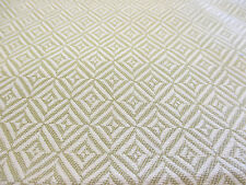 Lime Green Diamond Design Linen Blend Heavy Upholstery Fabric. By NEXT