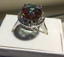 Stunning Russian  Alexanderite  Solitaire with Sapphires SZ8