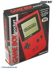 GameBoy Pocket - Konsole #rot (ITA) (mit OVP) NEUWERTIG