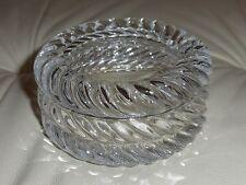 Tiffany & Co. Crystal Lidded Round Jewelry Trinket Box
