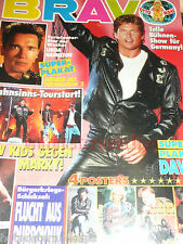 Bravo Nr. 47 1991 Doro Pesch Richard Grieco Poster Marky Mark Hasselhoff Roxette