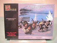 Pegasus Hobbies 1/72nd World War II U.S. D-day Rangers Plastic Soldiers Set