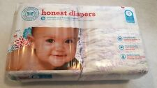 NEW HONEST COMPANY DIAPERS SZ 1 *BLOOM* 44 DIAPERS ~ 8-14 LBS