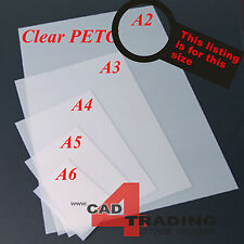 1mm Crystal Clear PETG Dolls House Glazing Plastic Art Craft Hobby A2 Sheet Size