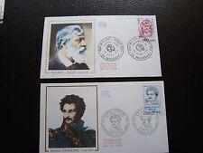 FRANCE - 2 enveloppes 1er jour 1976 (mounet-sully/general daumesnil)(cy93)french