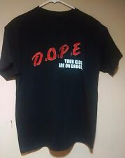 RARE Marilyn Manson D.O.P.E. DOPE Your Kids Are On Drugs T-Shirt Tee Shirt LARGE