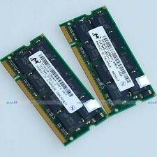 Micron 2GB 2 x 1GB PC2700 333mhz SODIMM DDR 333 Mhz 200pin Laptop Memory RAM NEW