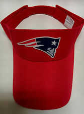 New England Patriots Cotton Logo on a Red visor cap hat! Adjustable sizing!