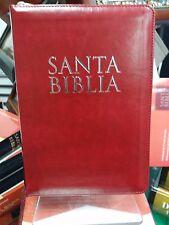 BIBLIA LETRA GRANDE TAMAÑO MANUAL CIERRE VINO PLATEADO INDICE REINA VALERA 1960