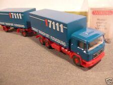 1/87 Wiking MAN F90 TTF Transit Transport Flensburg W-Pr-HZ 570 2A