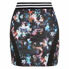 New Mini Skirt Floral Print Stretch Jersey Sexy Party Clubwear Sports Luxe Waist