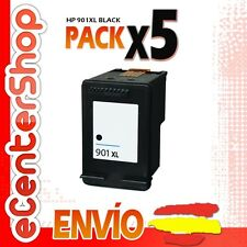 5 Cartuchos Tinta Negra / Negro HP 901XL Reman HP Officejet J4500 Series