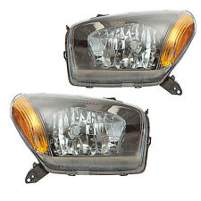 1-03        TOYOTA RAV-4 HEADLIGHTS FRONT LAMPS PAIR SET