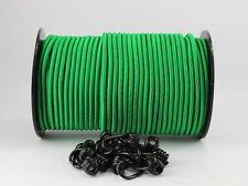 8mm Expanderseil grün 20m + 10 Spiralhaken Gummiseil Planenseil Haken Seil Plane