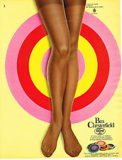 PUBLICITE  1967  CHESTERFIELD  bas & collants LILION