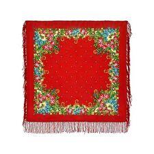 Russischer Schal Tuch PAWLOW POSAD original Wolle Trachten neu 89x89cm Wollschal