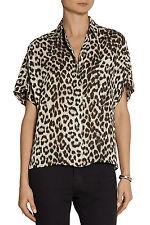 Rag & Bone Saunders Leopard Print Silk Shirt Blouse Size XXS