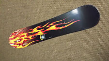 NEW B- Line Chopper Snowboard 112 cm Youth kids board black red flames