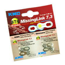 KMC CL573R 7.3 Alloy 6, 7, 8 Speed Bike Re-usable Chain Missing Link - Silver