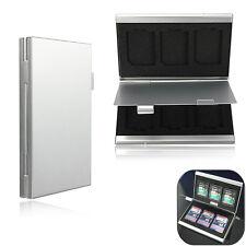 6 Slots Alluminio Custodia SD/SDHC/SDXC/MMC Memoria Carta Case Box Protettore
