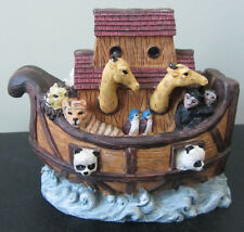 RARE Vintage Noah's Ark Animals Hinged Box Scene Display Figure Figurine Statue