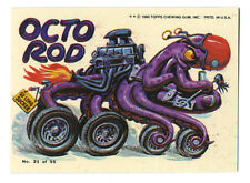 vtg Topps Weird Wheels collector sticker card HOT ROD drag race Octo Rod