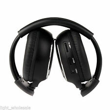 Foldable IR Stereo 2 Channel Wireless Headphone Car Headrest DVD Headset PK