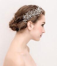 Silver Diamante Headpiece Wedding Hair Vine Crystal Bridal Accessories 1 Piece