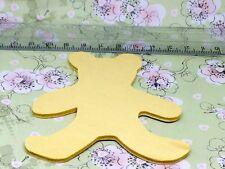 2 small wooden teddy bear shapes