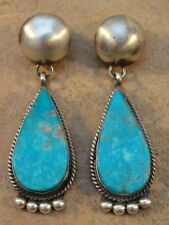 Selina Warner Navajo Sterling Silver & Turquoise Earrings