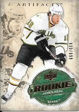 08/09 Upper Deck Artifacts Rookie Card #305 James Neal RC #930/999