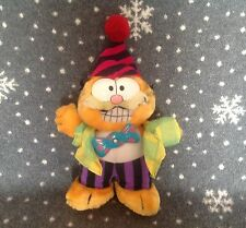 "VINTAGE DAKIN GARFIELD CAT CLOWN SOFT PLUSH TOY 1980s 9"" TALL Moving tie"