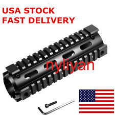 "US 6.7"" 4 Rail Carbine Handguard Quad Picatinny 20mm Rail Mount for Rifle Hunt"
