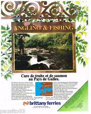 PUBLICITE ADVERTISING 105  1979  BRITTANY FERRIES PAYS DE GALLES truite & saumon