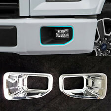 Fog Light Lamp Front Head Light Cover Trim BEZEL Bumper Molding For Ford F-150