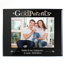 PERSONALISED Godparents Gift Photo Picture Frame Engraved Christening / Babtism