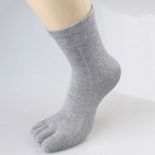 Fashion Five Finger Toes Mens Womens Cotton Socks Solid Color Sports Breathable