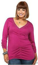 NWT TORRID Hot Topic Magenta Sequin V-Neck Pullover Size 1 0X/1X