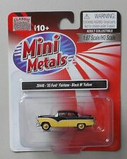1955 BLACK YELLOW FORD FAIRLANE CLASSIC METAL WORKS 1:87 Diecast MINI HO Scale