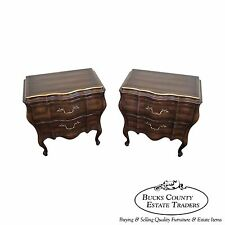 Union National Pair of French Style Bombe Nightstands Chests