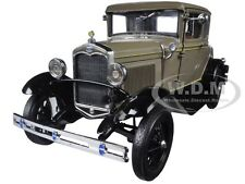 1931 FORD MODEL A COUPE CHICLE DRAB 1/18 DIECAST CAR MODEL BY SUNSTAR 6132
