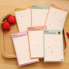 Newly Weekly Daily Plan Schedules Note Check Stick Bookmark Pads Sticker