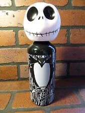 NIGHTMARE BEFORE CHRISTMAS Jack Skellington Aluminum Water Bottle Vinyl Head NEW